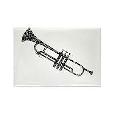 Trumpet, Vintage Rectangle Magnet