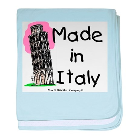 Made in Italy - Pisa baby blanket