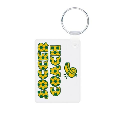 Soccer Coach Aluminum Keychain (2-sided)