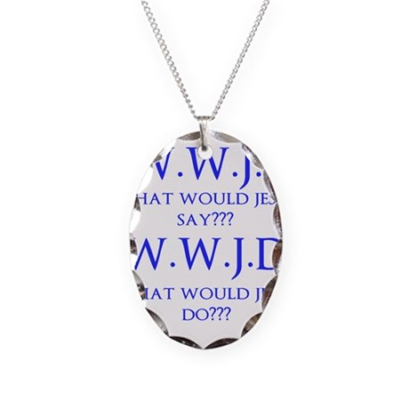 What Would... Necklace Oval Charm