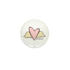 follow your heart Mini Button (10 pack)