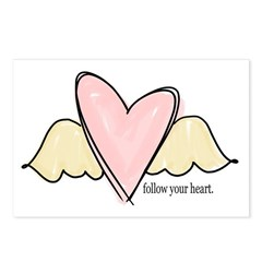 follow your heart Postcards (Package of 8)
