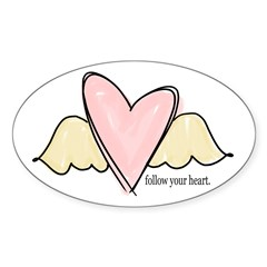follow your heart Oval Decal