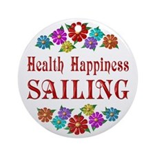 Sailing Happiness Ornament (Round)