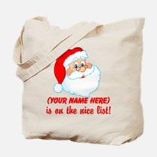 Personalized Nice List Tote Bag