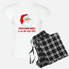 Personalized Nice List Pajamas