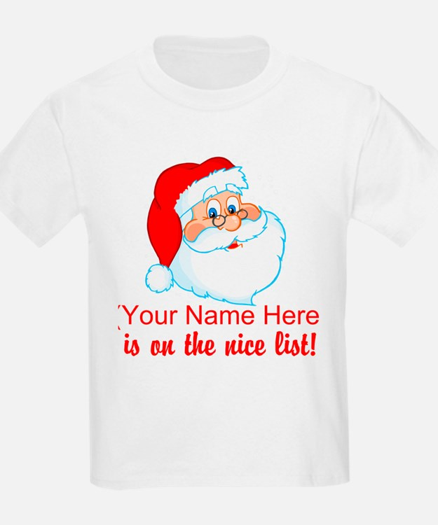 Personalized Nice List T-Shirt