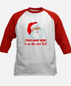 Personalized Nice List Kids Baseball Jersey