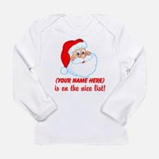 Personalized Nice List Long Sleeve Infant T-Shirt