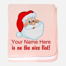 Personalized Nice List baby blanket