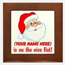 Personalized Nice List Framed Tile
