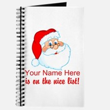 Personalized Nice List Journal