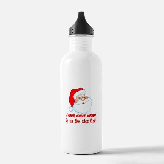 Personalized Nice List Water Bottle