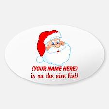 Personalized Nice List Sticker (Oval 10 pk)