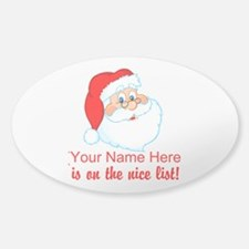 Personalized Nice List Decal
