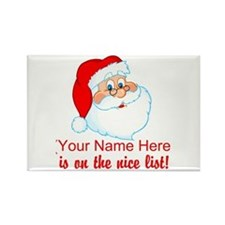 Personalized Nice List Rectangle Magnet