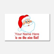 Personalized Nice List Car Magnet 20 x 12