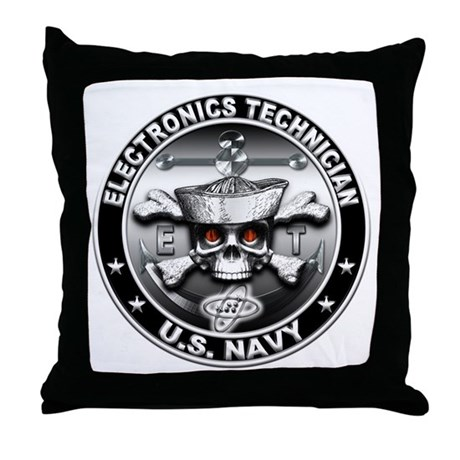 USN Electronics Technician Sk Throw Pillow
