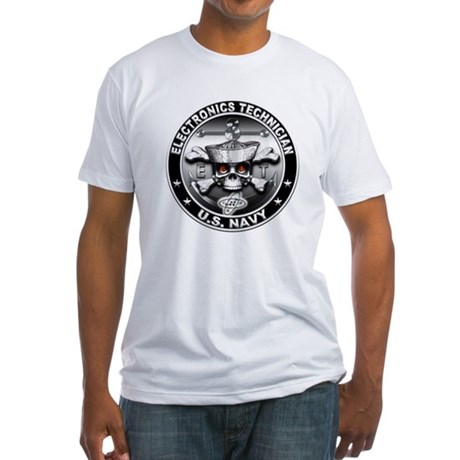 USN Electronics Technician Sk Fitted T-Shirt
