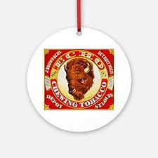 Buffalo Chewing Tobacco Label Ornament (Round)