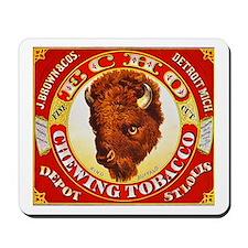 Buffalo Chewing Tobacco Label Mousepad