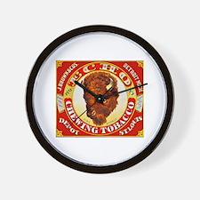 Buffalo Chewing Tobacco Label Wall Clock