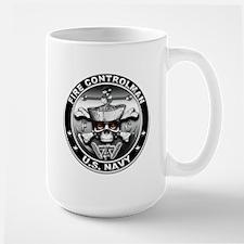 USN Fire Controlman Skull Mug