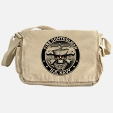 USN Fire Controlman Skull Messenger Bag