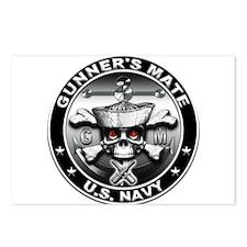 USN Gunners Mate Skull Postcards (Package of 8)