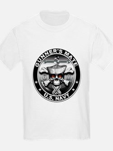 USN Gunners Mate Skull T-Shirt