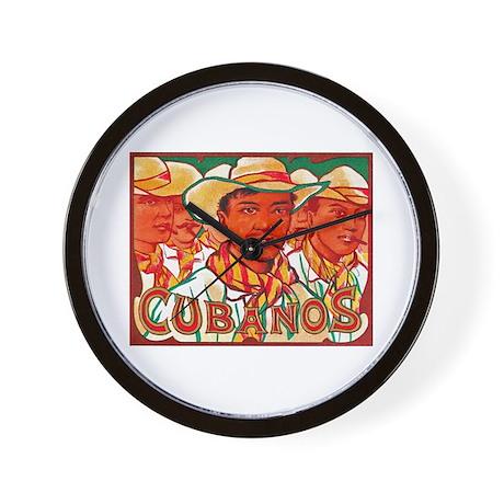 Cubanos Cigar Label Wall Clock