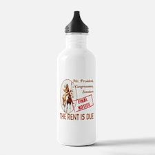 Rent is due Water Bottle