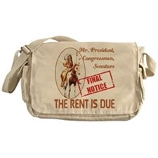 Rent is due Messenger Bag
