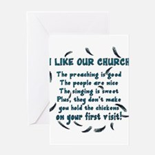 I Like Our Church Greeting Card