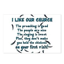 I Like Our Church Postcards (Package of 8)