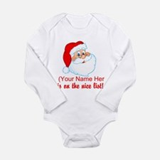 You're On The Nice List Long Sleeve Infant Bodysui