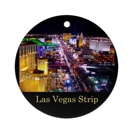 Las Vegas Strip Ornament (Round)