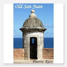 "Old San Juan Square Car Magnet 3"" x 3"""