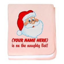 Personalized Naughty List baby blanket