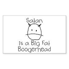 Satan is a Boogerhead Decal