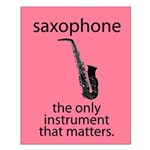 Saxophone Music Instrument Small Poster