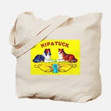 Nip & Tuck Dogs Cigar Label Tote Bag