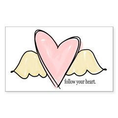 follow your heart Rectangle Decal
