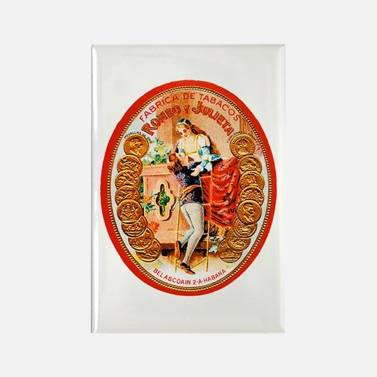 Romeo & Juliet Cigar Label Rectangle Magnet