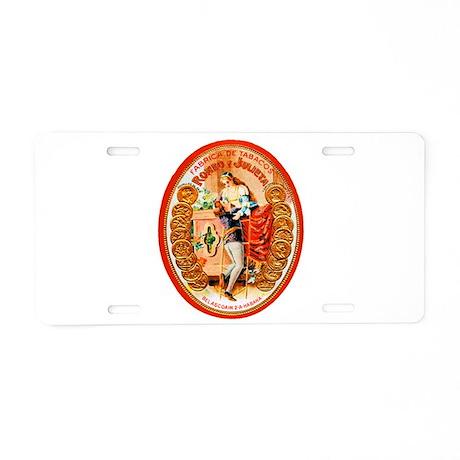 Romeo & Juliet Cigar Label Aluminum License Plate