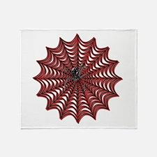 Black Widows Web Throw Blanket