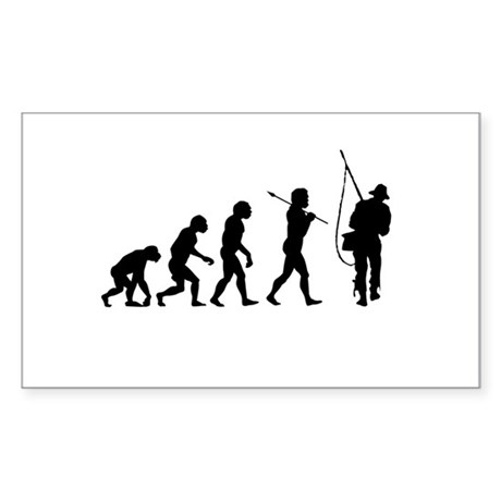 Evolved To Fish Sticker (Rectangle)