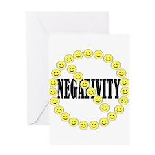 NO Negativity Greeting Card