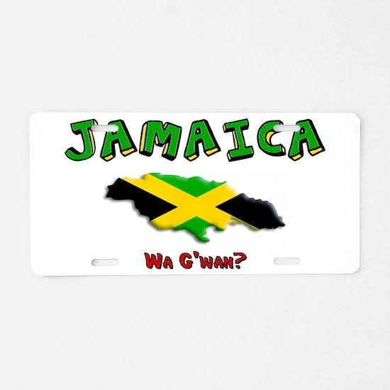 Unique Jamaica Aluminum License Plate
