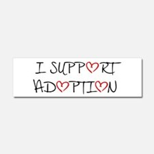 I Support Adoption Car Magnet 10 x 3